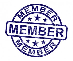 Member Stamp Showing Membership Registration And Subscribing